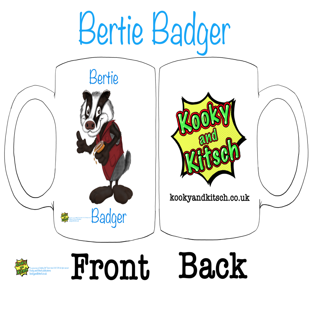 bertie badger mug