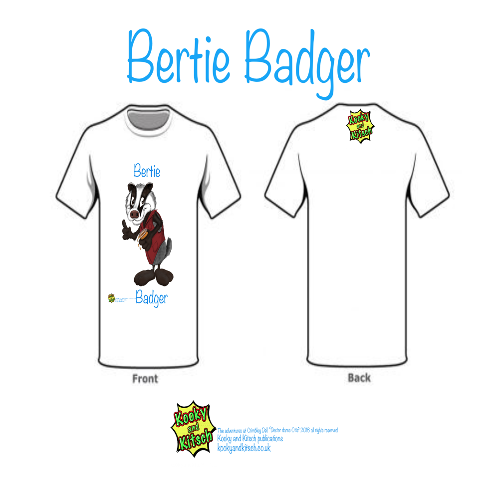 bertie badger t-shirt