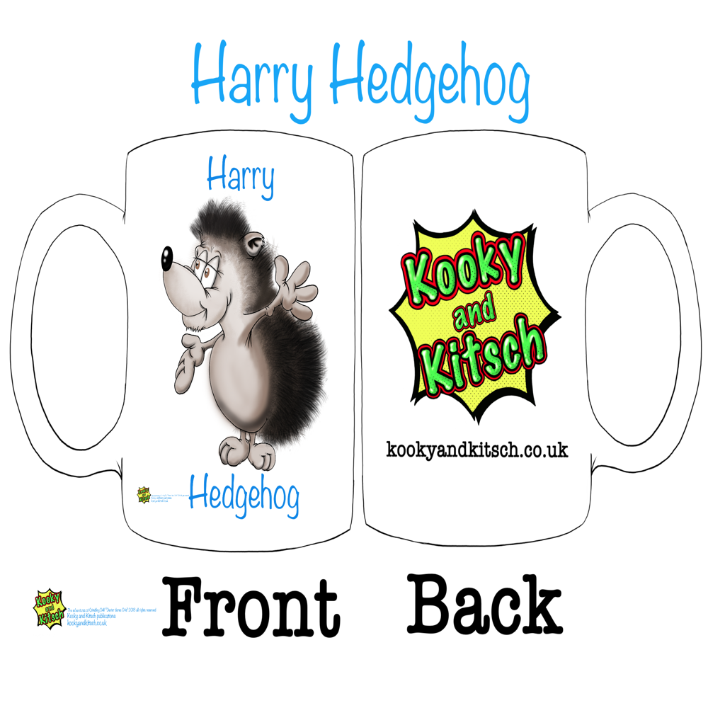 harry hedgehog mug