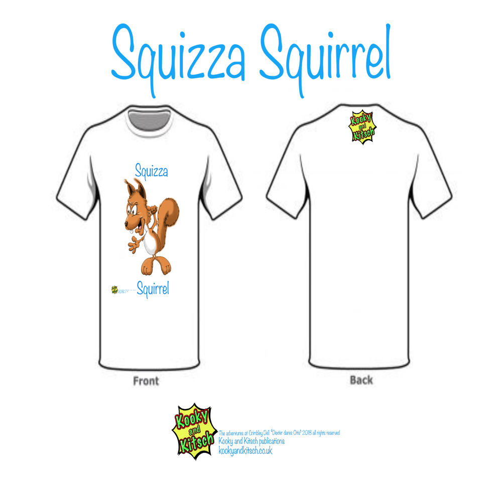 squizza squirrel t-shirt