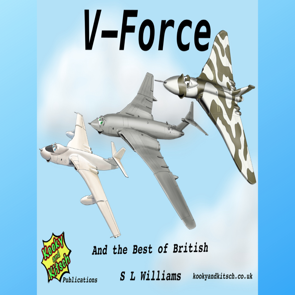 v force book title canva